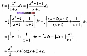 MP Board Class 12th Maths Important Questions Chapter 7A Integration img 29