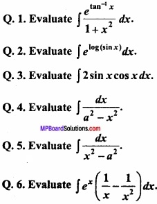 MP Board Class 12th Maths Important Questions Chapter 7A Integration img 3 - Copy