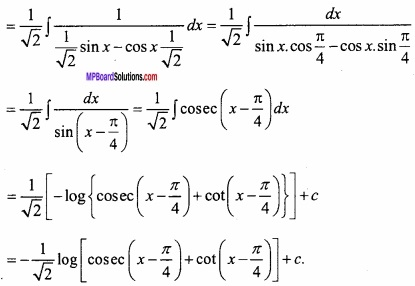 MP Board Class 12th Maths Important Questions Chapter 7A Integration img 30