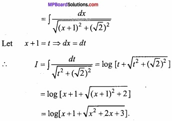 MP Board Class 12th Maths Important Questions Chapter 7A Integration img 37a