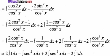 MP Board Class 12th Maths Important Questions Chapter 7A Integration img 4 - Copy