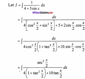 MP Board Class 12th Maths Important Questions Chapter 7A Integration img 57