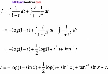 MP Board Class 12th Maths Important Questions Chapter 7A Integration img 62