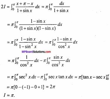 MP Board Class 12th Maths Important Questions Chapter 7B निशिचत समाकलन img 24