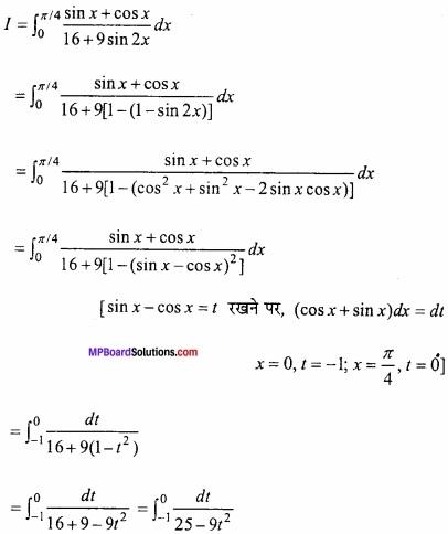 MP Board Class 12th Maths Important Questions Chapter 7B निशिचत समाकलन img 44