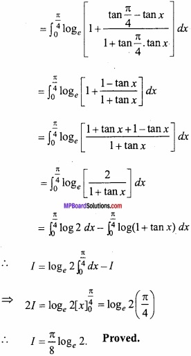 MP Board Class 12th Maths Important Questions Chapter 7B Definite Integral img 15a