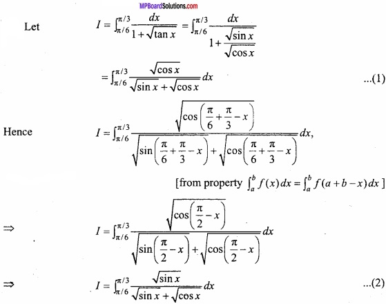 MP Board Class 12th Maths Important Questions Chapter 7B Definite Integral img 3