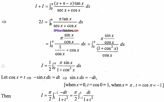 MP Board Class 12th Maths Important Questions Chapter 7B Definite Integral img 8