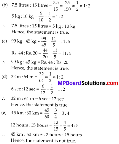 MP Board Class 6th Maths Solutions Chapter 12 Ratio and Proportion Ex 12.2 5