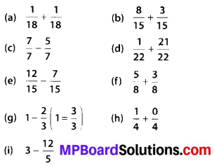 MP Board Class 6th Maths Solutions Chapter 7 Fractions Ex 7.5 3