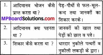 MP Board Class 6th Social Science Solutions Chapter 2 आदिमानव img 1