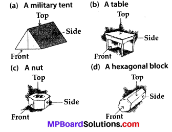 MP Board Class 8th Maths Solutions Chapter 10 Visualizing Solid Shapes Ex 10.1 8