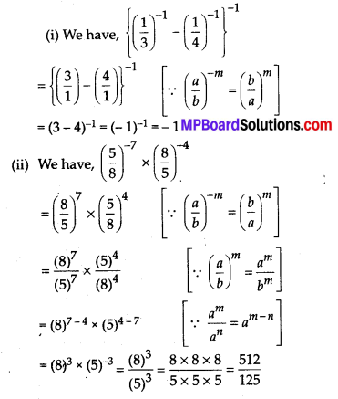 MP Board Class 8th Maths Solutions Chapter 12 Exponents and Powers Ex 12.1 13
