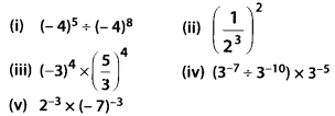MP Board Class 8th Maths Solutions Chapter 12 Exponents and Powers Ex 12.1 2