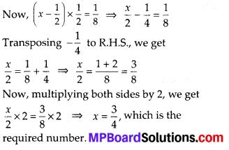 Mp Board Class 8 Maths Chapter 2