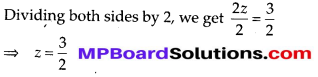 MP Board Class 8th Maths Solutions Chapter 2 Linear Equations in One Variable Ex 2.3 2