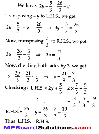MP Board Class 8th Maths Solutions Chapter 2 Linear Equations in One Variable Ex 2.3 8