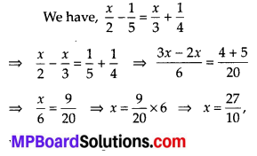 MP Board Class 8th Maths Solutions Chapter 2 Linear Equations in One Variable Ex 2.5 1