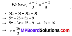 MP Board Class 8th Maths Solutions Chapter 2 Linear Equations in One Variable Ex 2.5 4