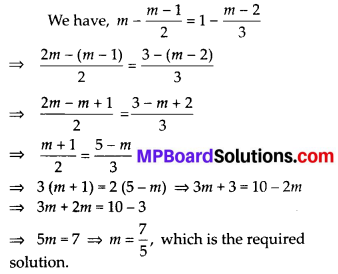 MP Board Class 8th Maths Solutions Chapter 2 Linear Equations in One Variable Ex 2.5 6