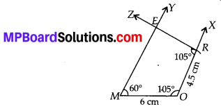 MP Board Class 8th Maths Solutions Chapter 4 Practical Geometry Ex 4.3 1
