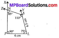 MP Board Class 8th Maths Solutions Chapter 4 Practical Geometry Ex 4.3 2