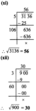 MP Board Class 8th Maths Solutions Chapter 6 वर्ग और वर्गमूल Ex 6.4 img-6