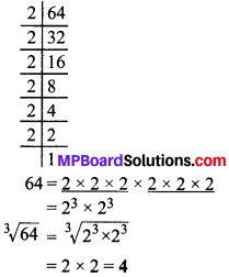 MP Board Class 8th Maths Solutions Chapter 7 घन और घनमूल Ex 7.2 img-1