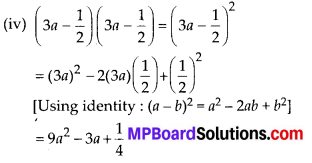 MP Board Class 8th Maths Solutions Chapter 9 Algebraic Expressions and Identities Ex 9.5 3