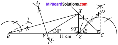 MP Board Class 9th Maths Solutions Chapter 11 Constructions Ex 11.2 img-4