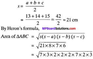 MP Board Class 9th Maths Solutions Chapter 12 Heron's Formula Ex 12.1 img-9