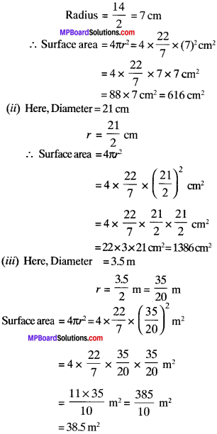 MP Board Class 9th Maths Solutions Chapter 13 Surface Areas and Volumes Ex 13.4 img-2