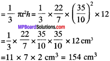 MP Board Class 9th Maths Solutions Chapter 13 Surface Areas and Volumes Ex 13.7 img-1
