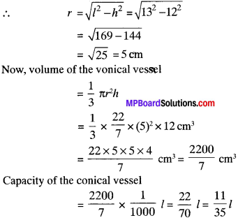 MP Board Class 9th Maths Solutions Chapter 13 Surface Areas and Volumes Ex 13.7 img-3