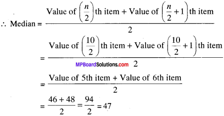 MP Board Class 9th Maths Solutions Chapter 14 Statistics Ex 14.3 img-47