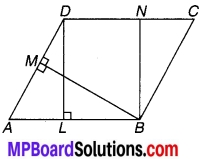 MP Board Class 9th Maths Solutions Chapter 9 समान्तर चतुर्भुज और त्रिभुजों के क्षेत्रफल Additional Questions 16