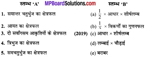 MP Board Class 9th Maths Solutions Chapter 9 समान्तर चतुर्भुज और त्रिभुजों के क्षेत्रफल Additional Questions 19