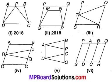 MP Board Class 9th Maths Solutions Chapter 9 समान्तर चतुर्भुज और त्रिभुजों के क्षेत्रफल Ex 9.1