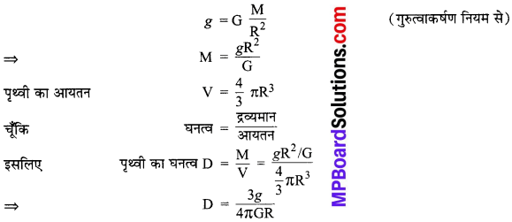 MP Board Class 9th Science Solutions Chapter 10 गुरुत्वाकर्षण image 18
