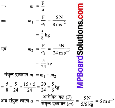 MP Board Class 9th Science Solutions Chapter 9 बल तथा गति के नियम image 11