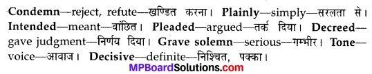 MP Board Class 10th English The Rainbow Solutions Chapter 7 Report of An Adjudged Case 3