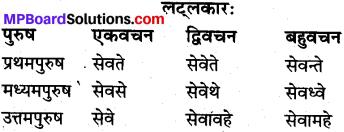 MP Board Class 10th Sanskrit व्याकरण धातु रूप-प्रकरण img 12