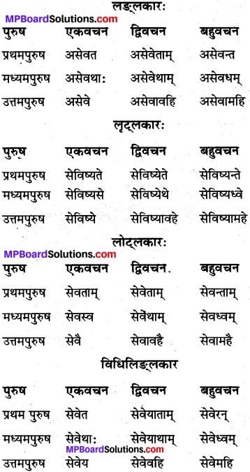 MP Board Class 10th Sanskrit व्याकरण धातु रूप-प्रकरण img 13