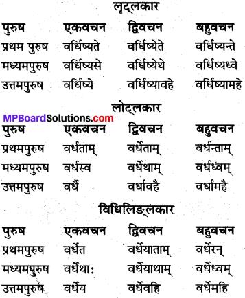 MP Board Class 10th Sanskrit व्याकरण धातु रूप-प्रकरण img 15