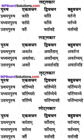 MP Board Class 10th Sanskrit व्याकरण धातु रूप-प्रकरण img 16