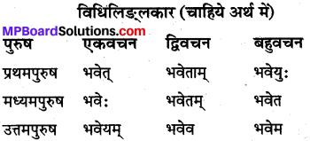 MP Board Class 10th Sanskrit व्याकरण धातु रूप-प्रकरण img 2