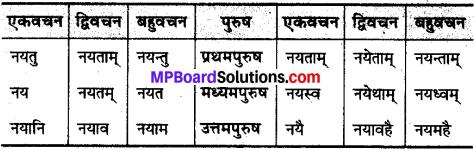 MP Board Class 10th Sanskrit व्याकरण धातु रूप-प्रकरण img 21