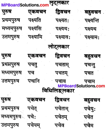 MP Board Class 10th Sanskrit व्याकरण धातु रूप-प्रकरण img 8