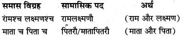 Sanskrit Samas Examples MP Board Class 10th