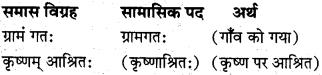 समास संस्कृत में कक्षा 10 MP Board